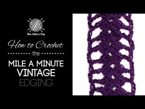How To Crochet The Mile A Minute Vintage Edging YouTube Cool Mile A Minute Afghan Pattern
