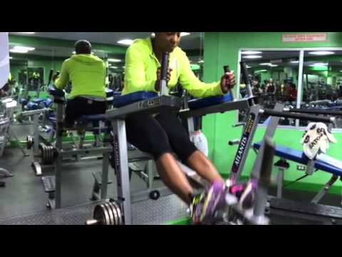 Kim at JS Fitness Bahamas
