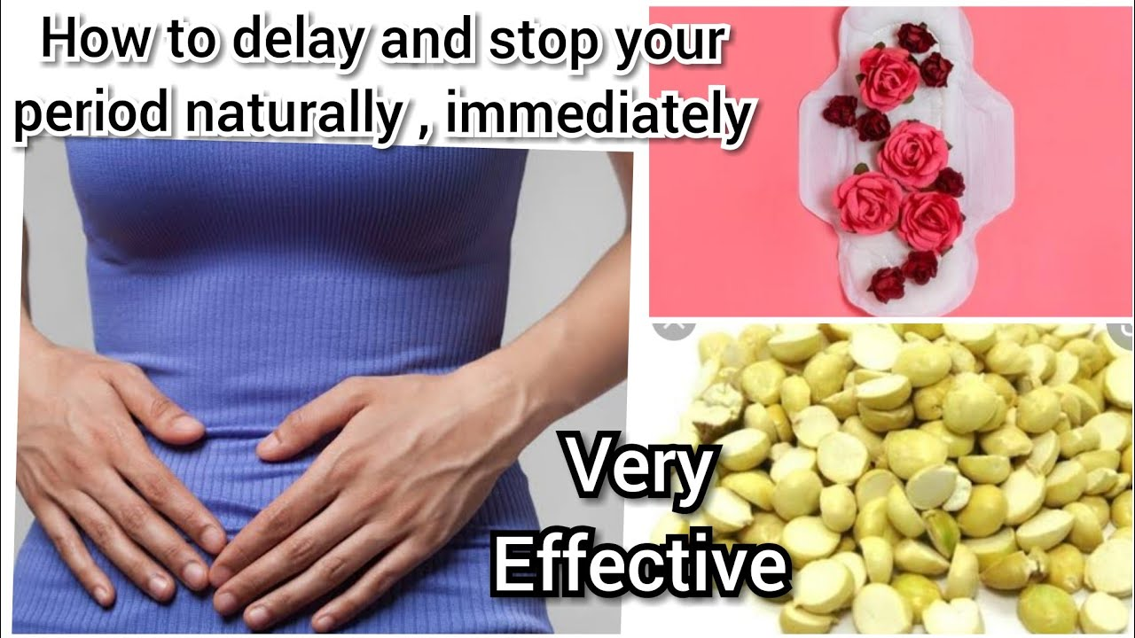 How to Dealy periods naturally| how to stop periods |Home