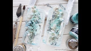 step-by-step tutorial mixed-media tags