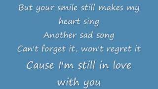 Jonas Brothers - Still in love with you (lyrics)