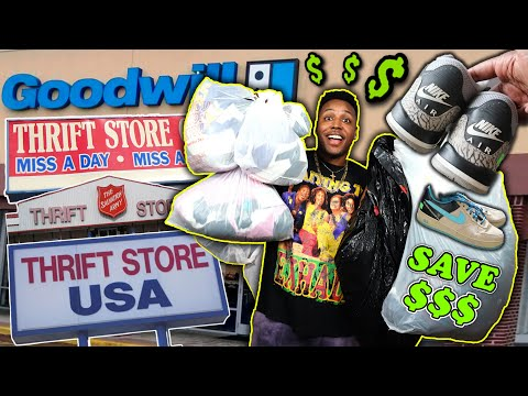FINDING JORDANS For $6.99 AT THE THRIFT! HOW TO SAVE MONEY ON CLOTHES! ONE OF MY BEST THRIFT TRIPS!