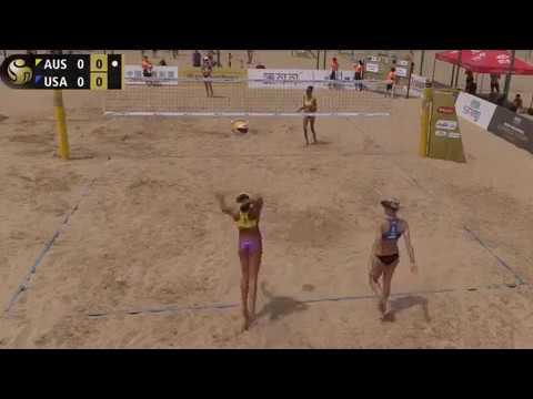Beach Volleyball - Xiamen - Group Stage - del Solar & Clancy (AUS) vs Hochevar & Claes (USA)