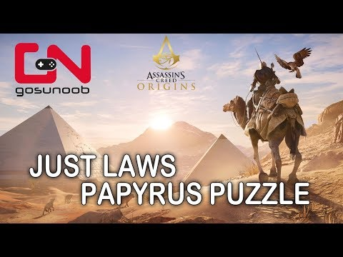 Assassin's Creed: Origins - Just Laws papyrus Puzzle - How to solve