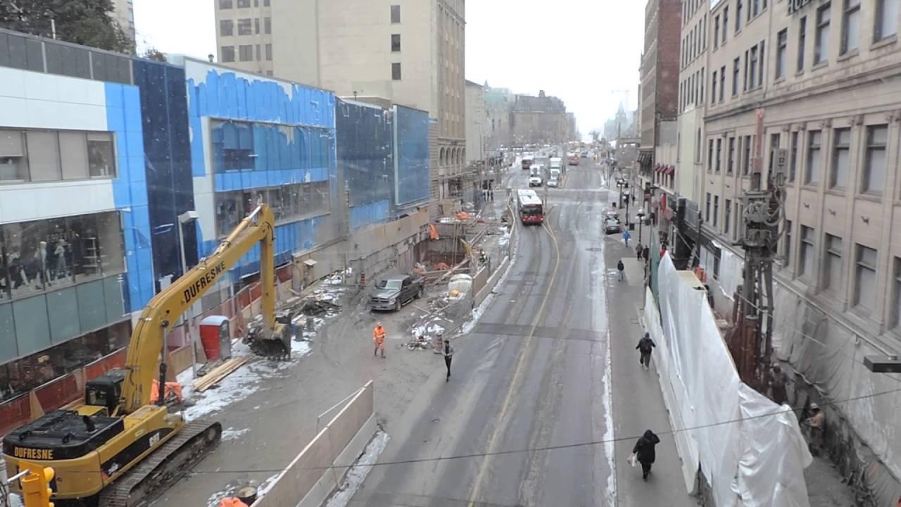 Rideau Center Construction-WEST-Ottawa-2016 - YouTube