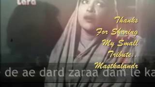 aye dil zara dam le,karvat to badalne de..Zamana1938_Amirbai Karnataki_Sundardas Bhatia..a tribute