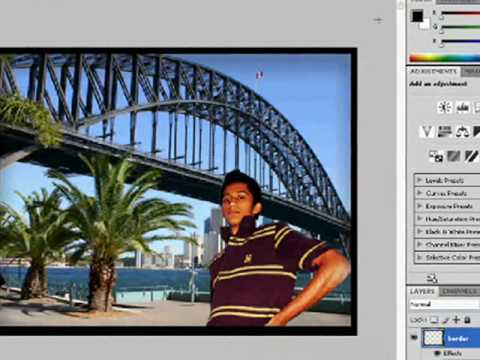 how to change green screen background in photoshop