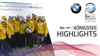 Highlights | Germany reign in the Team Competition | BMW IBSF World Championships 2017
