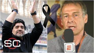 DIEGO MARADONA. Las CONMOVEDORAS palabras de Jürgen Klinsmann y Santiago Solari | SportsCenter