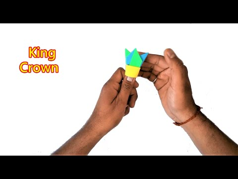 How To Make King Crown With Paper Easy | Origami , Paper Folding Craft, Videos and Tutorials