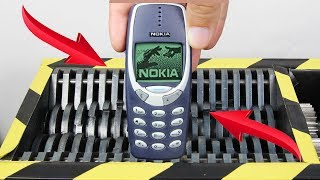 Experiment Shredding Nokia 3310  Lego And Toys | The Crusher