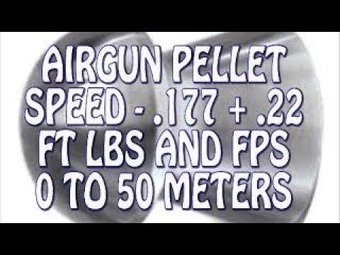Airgun Pellet Speed Power Test 0 to 50m 22 +177- FPS + FT LBS