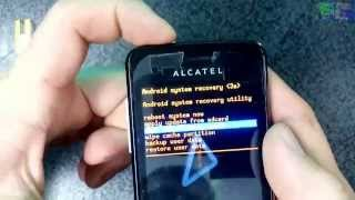 Alcatel 4007d Снятие графического ключа - разблокировка HARD RESET(Как снять графический ключ, удалить вирус, разблокировать, восстановить стандартные заводские настройки..., 2015-01-24T07:45:30.000Z)