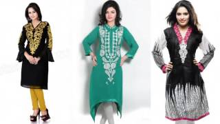 Latest Cotton Casual Kurtis Pics | Latest Fashion 2017 Designer Kurtis Girls And Women Kurtas