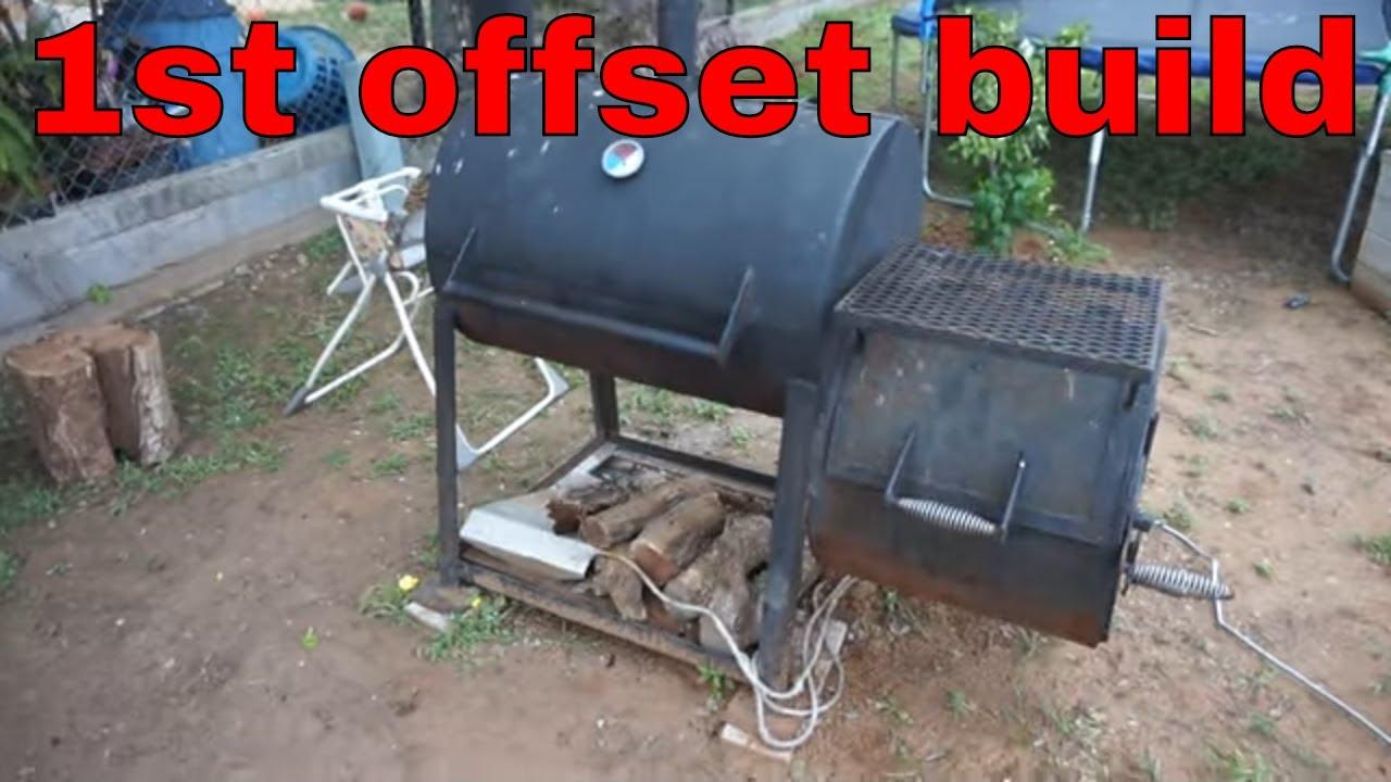 33 X 24 Bbq Smoker Pit With 20 X 24 Firebox Diy Youtube