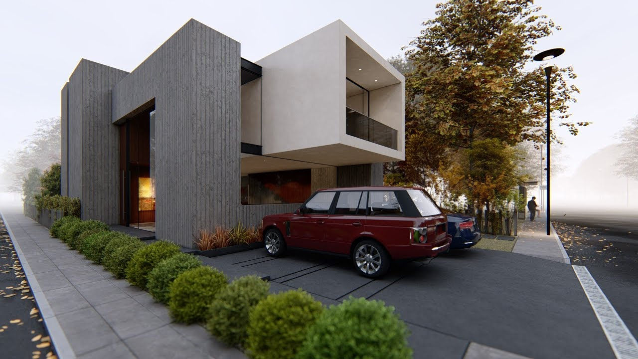 Lumion 8 pro render modern house5