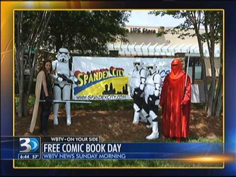 Carolina Garrison Free comic book day WBTV 3 News DZ5940 TB1345 SL9819