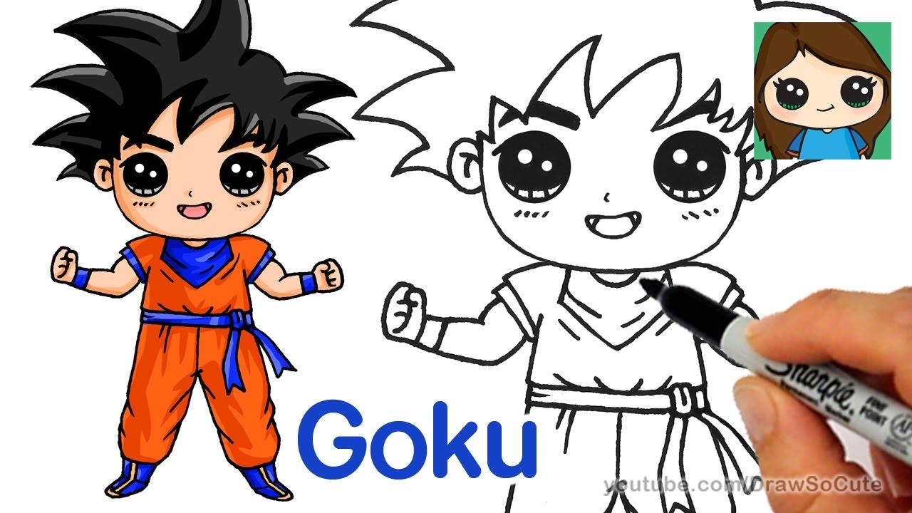 How to draw goku dragon ball super