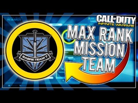 SABRE TEAM SEVEN MAX RANK! [Infinite Warfare Max Rank Mission Teams]