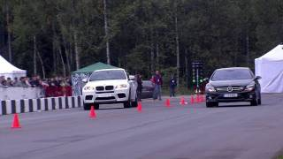 BMW X6M Evotech Stage 2 vs Mercedes-Benz CL63 AMG