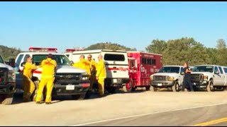 Wild Fire Burns Near Copperopolis In Calaveras County - California Wild Fire Video & Pictures
