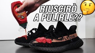 SPORCO DI KETCHUP LE MIE YEEZY: COME LE PULISCO?