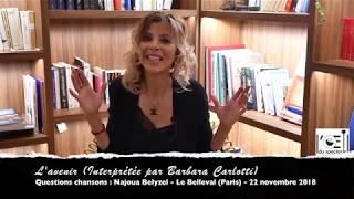 L'Œil du spectacle Interview Najoua Belyzel - Le Belleval - 22 novembre 2018