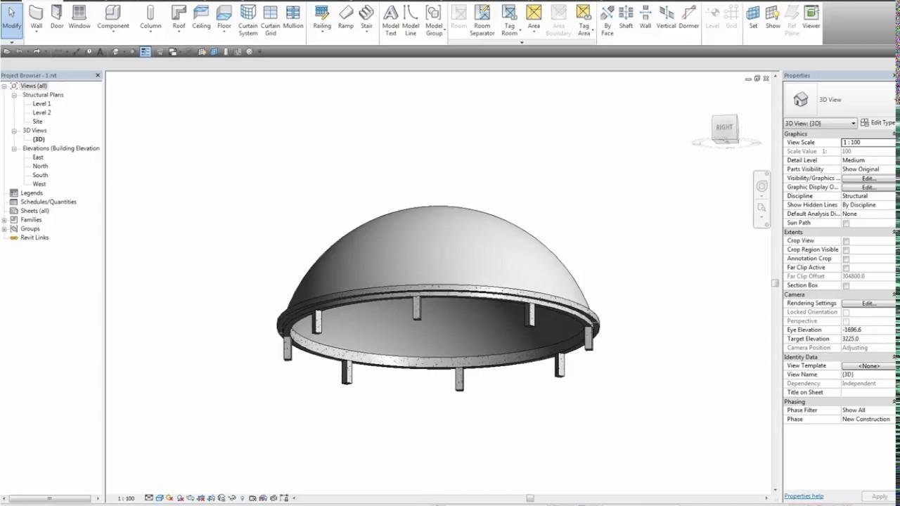 ROBOT2016 | Dome Analysis | تحليل قبة باستخدام برنامج الروبوت ومقارنة النتائج مع تحليل اليدوي
