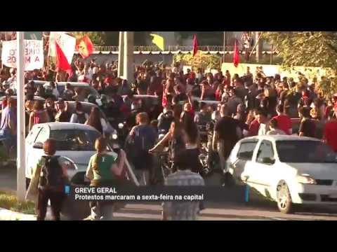 Protestos marcaram a sexta-feira em Florianópolis
