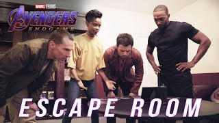 Watch Anthony Mackie, Letitia Wright, Sebastian Stan, and Benedict Cumberbatch take on a Marvel Studios' Avengers: Endgame-themed escape room!