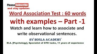 My dear SSB / AFSB aspirants, for the purpose of your Selection I a...