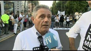 Asistentes a la manifestación del Mar Menor piden responsabilidad