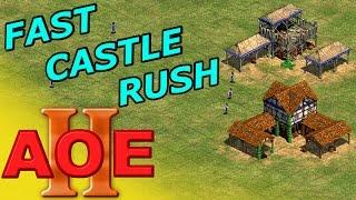 AOE 2 - Fast Castle Ritterzeit Rush - German Tutorial Guide Strategie