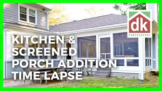 Kitchen & Screened Porch Addition