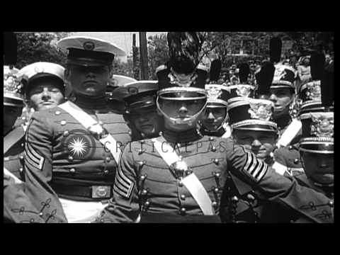 US President Franklin Roosevelt at the dedication of Woodrow Wilson's birth place...HD Stock Footage
