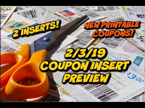2/3/19 COUPON INSERT PREVIEW | NEW PRINTABLE COUPONS UPDATE!