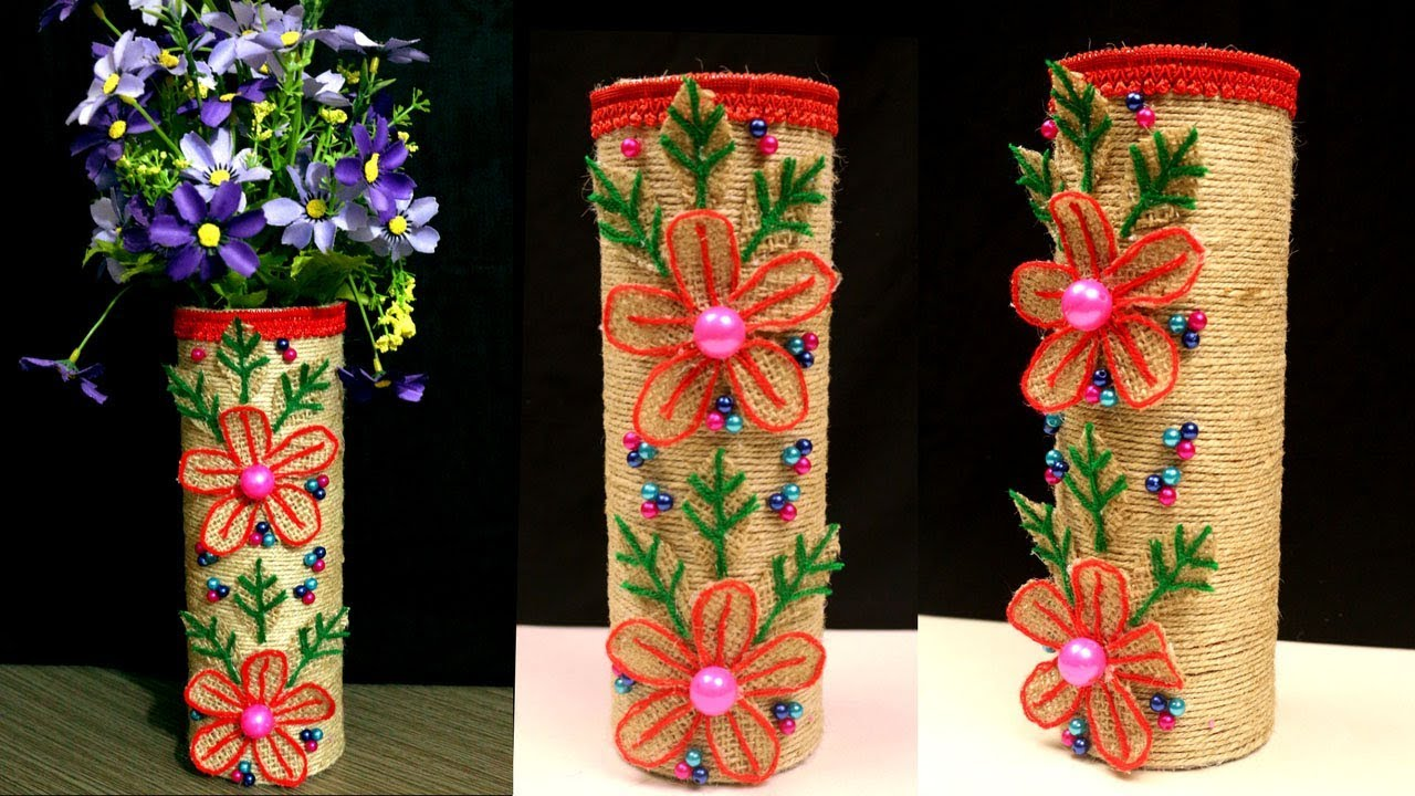 Diy how to make best out of waste flower vase cool for Flower pot making with waste material