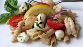 Easy Pasta Salad With Shrimp -- The Frugal Chef
