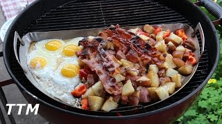 Breakfast on the Weber KettleFirst Cook on the Drip N Griddle