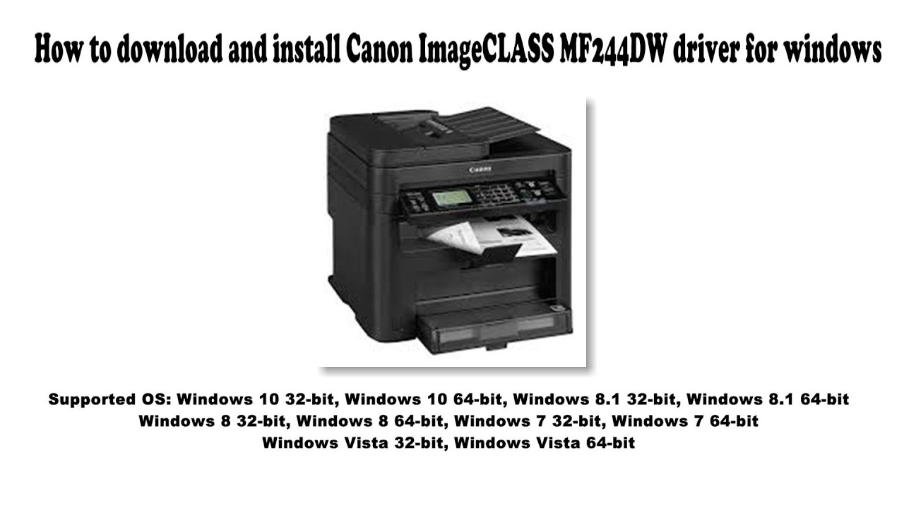 How to download and install Canon ImageCLASS MF20DW driver Windows 20,  20.20, 20, 20, Vista