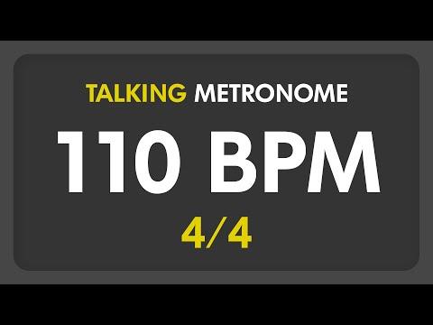 110 BPM - Talking Metronome (4/4)