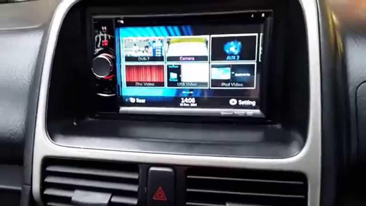 Honda CRV SatNAV Clarion DoubleDin Install, Reverse Camera CarAudioCentre  Notts   YouTube