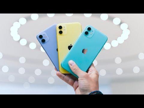Смотреть iPhone 11 - ALL THE COLORS - Color Comparison! онлайн