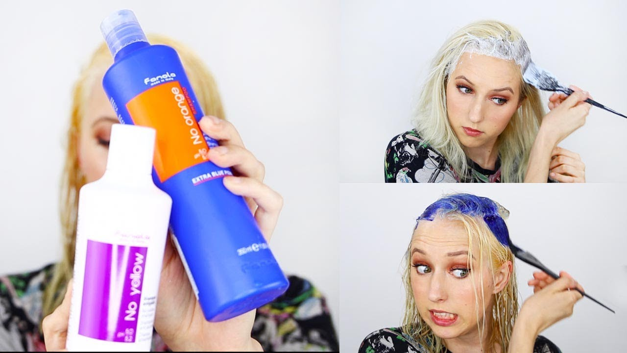 Bleaching My Roots | Tone With Fanola No Orange Shampoo