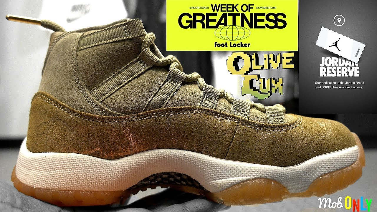 680ddd1f9a62 Olive Lux Air Jordan 11 4k Ultra HD Week Of Greatness Black Friday ...