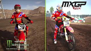 Supercross The Game VS MXGP PRO | Gameplay Video Comparison