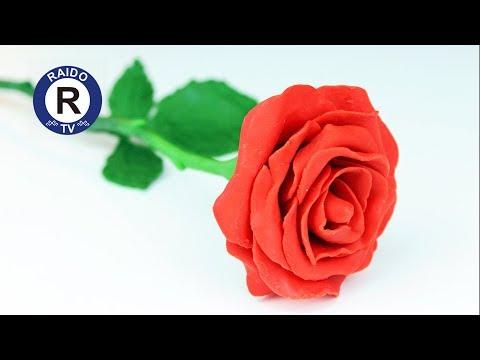 Как сделать розу из пластилина видео