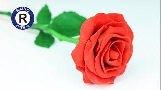 как сделать красивую розу из пластилина