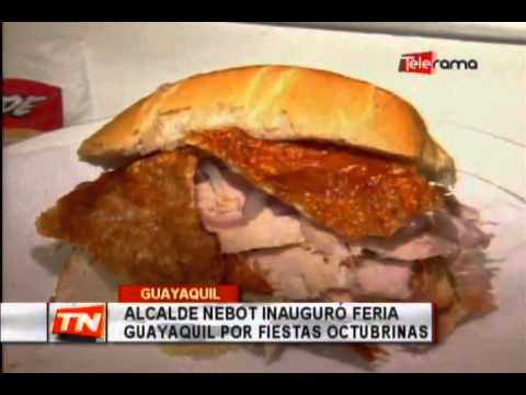 Alcalde Nebot inauguró feria Guayaquil por fiestas Octubrinas