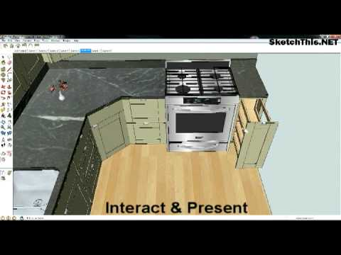 using sketchup in kitchen design - Sketchup Kitchen Design